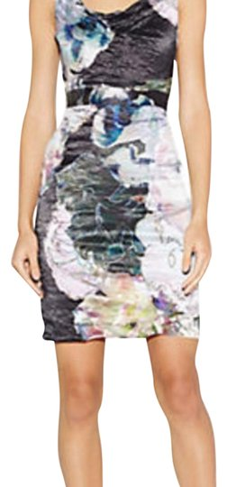 Nicole Miller Floral Abstract Sheath Cb10028 Dress - 75% Off Retail on sale