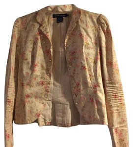 Ralph Lauren Cream Pink Yellow Blazer
