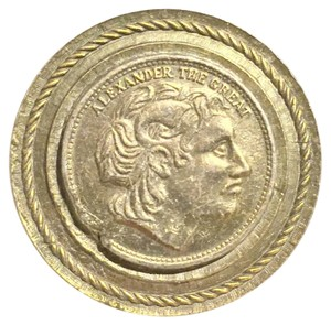 DeNicola Rare Vintage Denicola Alexander The Great Coin Brooch
