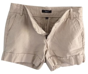 Express Linen Cuffed Shorts Khaki