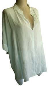 Eileen Fisher Xl 1x 2x 3x Xxl Top pale aqua