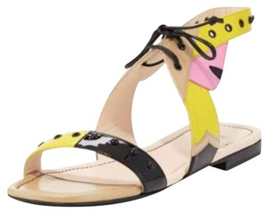 Fendi Beige/Yellow/Black Sandals