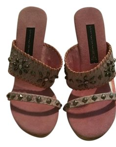Steve Madden Pink /grey Sandals