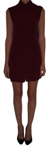 Alexander Wang short dress Burgandy New Red Silk on Tradesy