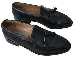 Johnston & Murphy Black calf Flats