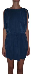 Wilfred short dress blue Silk Cut-out on Tradesy