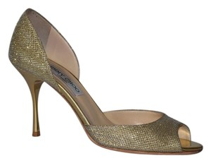Jimmy Choo Glitter Pump Metallic Gold Pumps