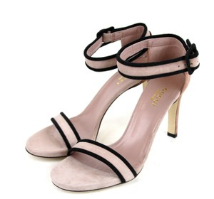 Gucci Suede Ankle Strap Winter Rose Sandals
