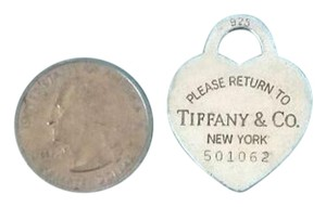 Tiffany & Co. Tiffany & Co Sterling Silver large Heart Charm Pendant