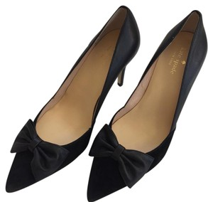 Kate Spade Stiletto Suede Leather Black Pumps