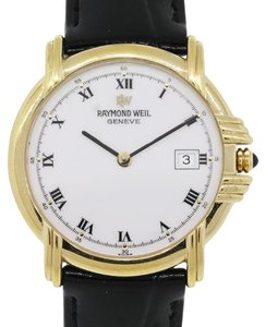 Raymond Weil Raymond Weil 9155 Electroplated Yellow Gold White Roman Dial Watch