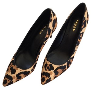 Coach Stiletto Boot Bootie Leopard Pumps