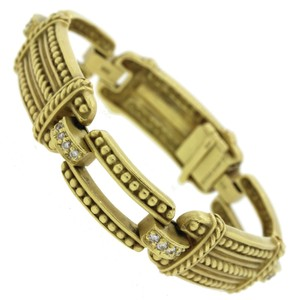 Judith Ripka Judith Ripka 18k Yellow Green Gold 0.5ctw Diamond Bracelet
