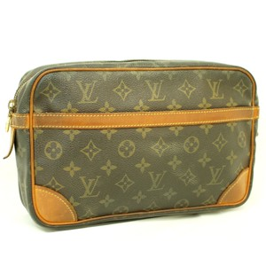 Louis Vuitton Lv Monogram Vintage Brown Clutch