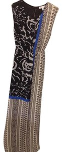 Black/Blue Tribal Print Maxi Dress by Other Boutique Maxi Bohemian