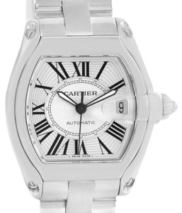 Cartier Cartier Roadster Mens Stainless Steel Watch W62025V3 Box Papers
