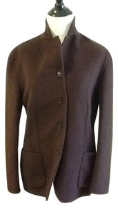 Saks Fifth Avenue Made In Italy 50% Angora 35% Wool 15% Cashmere Brown Blazer