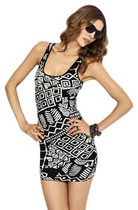 Torn by Ronny Kobo Tribal Knit Mini Dress
