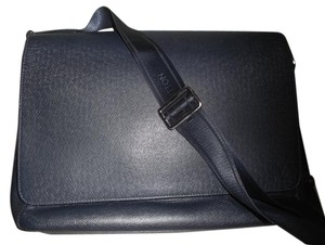 Louis Vuitton Tiaga Leather Ardoise ARDOISE (BLACK/GREY) Messenger Bag