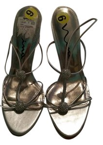 Nina Shoes Silver and clear Sandals