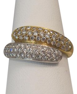 Other 18 KT 0.97 CTw Pave Diamond By-pass Ring, YG/WG RD
