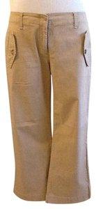 Theory 98% 2% Lycra Made In Usa Machine Wash Capris Khaki
