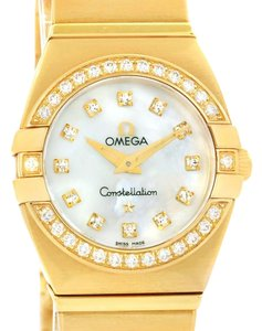 Omega Omega Constellation Double Eagle Yellow Gold Diamond Watch 1189.75.00