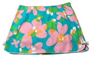 Lilly Pulitzer Mini Skirt Blue and pink