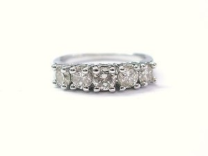 Fine 5-stone Round Cut Diamond Anniversary Ring 1.00ct Sz 5.5