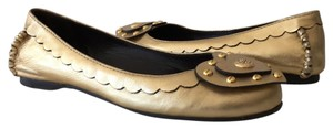 Tory Burch gold metallic Flats