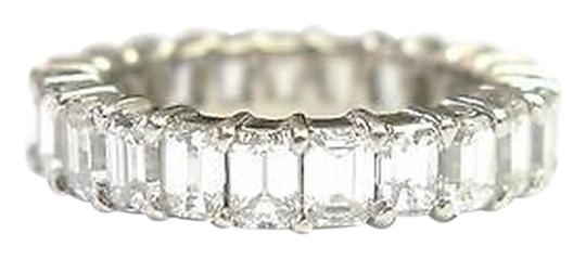 Other Fine,Emerald,Cut,Diamond,Shared,Prong,Eternity,Band,Ring,White,Gold,4.40ct,Sz5