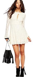 Free People short dress Ivory on Tradesy