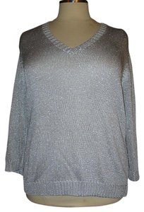Ralph Lauren Metallic 3x V Neck Sweater