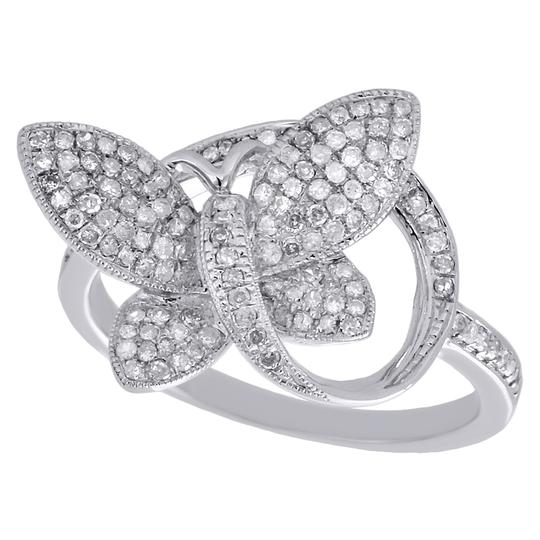 Other 10K White Gold Diamond Engagement Ring Butterfly Fashion Style