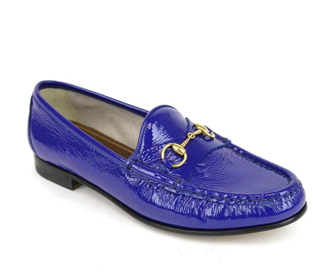 Item - Deep Zaffiro / Blue Horsebit 1953 Soft Patent Leather Loafer Eu 38/ 318394 4228 Flats Size US 8 Regular (M, B)