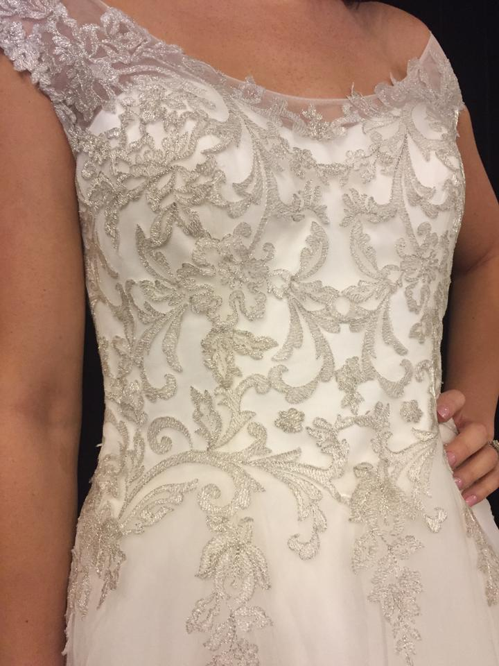 Maggie Sottero Ivory/Pewter Lace/Tulle Barbie Modern Wedding Dress ...