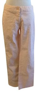 Prada 69% 31% Linen Machine Wash Dry Clean Made In Italy Trouser Pants Pink red white