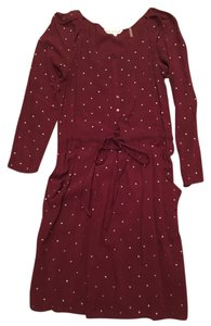 Rebecca Taylor short dress Burgundy Long Sleeve Holiday on Tradesy