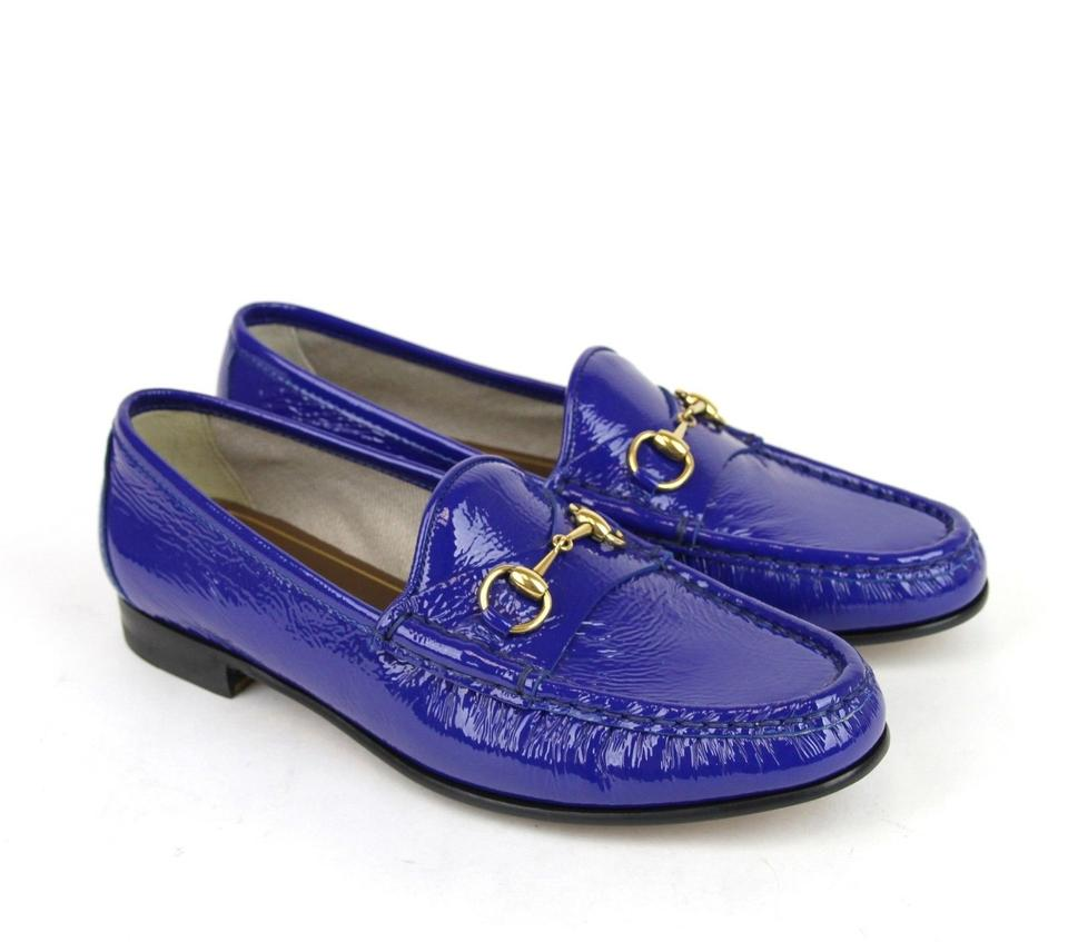 2948d6a7c13 Gucci Deep Zaffiro   Blue Horsebit 1953 Soft Patent Leather Loafer Eu 42   318394 4228 Flats. Size  US ...