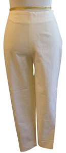 Piazza Sempione Lycra Spandex Made In Italy Dry Clean Capri/Cropped Pants White