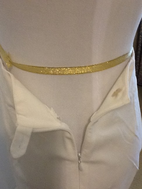 Piazza Sempione Lycra Spandex Made In Italy Dry Clean Capri/Cropped Pants White Image 1