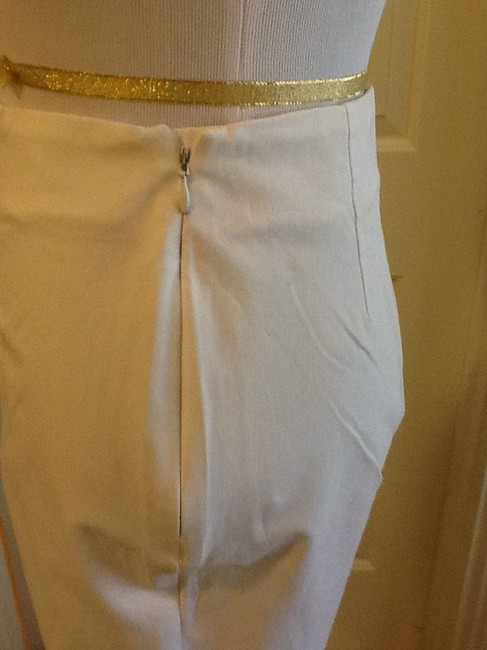 Piazza Sempione Lycra Spandex Made In Italy Dry Clean Capri/Cropped Pants White Image 2