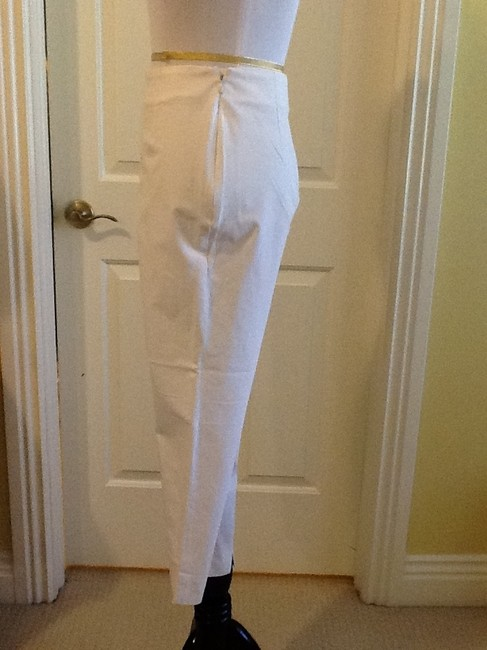 Piazza Sempione Lycra Spandex Made In Italy Dry Clean Capri/Cropped Pants White Image 4