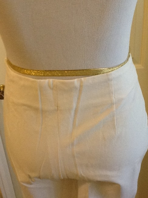 Piazza Sempione Lycra Spandex Made In Italy Dry Clean Capri/Cropped Pants White Image 5