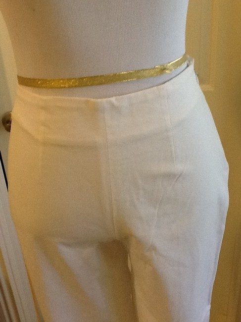 Piazza Sempione Lycra Spandex Made In Italy Dry Clean Capri/Cropped Pants White Image 7