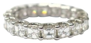 Fine,Asscher,Cut,Diamond,Eternity,Ring,4.50ct,Wg,Sz7.5