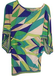 Trina Turk Top Blue, green, white, purple