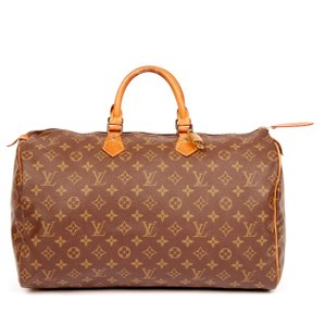 Louis Vuitton Monogram Canvas Leather Weekend Travel Satchel in Brown