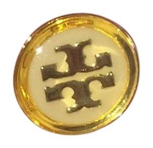 Tory Burch yellow ivory button