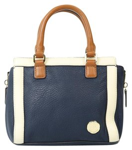 Vince Camuto Satchel in Navy Blue/Creme